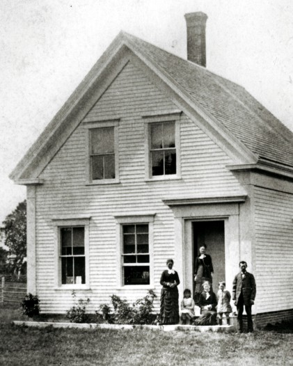 Charles Andrew Grannell and Family at house