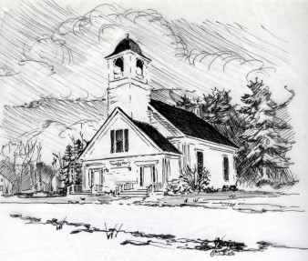 Jon's Drawing of Church